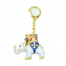 Power Elephant with Warrior Amulet Keychain