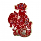 Pair of Rooster Stickers for Year of Rooster 2017