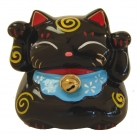 Black Money Lucky Cat Statue