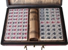 Mini Chinese Mahjong with Wooden Case for Carrying