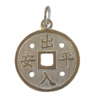 925 Sterling Silver Feng Shui Coin Pendant