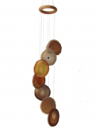 7 Citrine Agate Slabs Wind chime