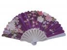 White Slab Chinese Folding Hand Fan in Different Color Background