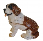 Big Bejeweled Cloisonne Dog Statue