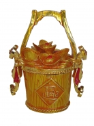 Bejeweled Cloisonne Wealth Bucket