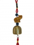 Small Elephant Bell Charm