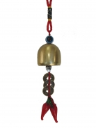 Small Red Pepper Coin Bell Charm