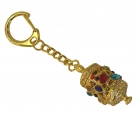5 Dzambala Prayer Wheel Keychain in Gold