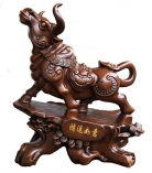 Big Brown Auspicious Ox Statue