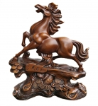 Big Brown Auspicious Horse Statue