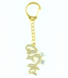 Bejeweled HRIH Seed Syllable Keychain Amulet
