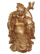 16 Inch Golden Money Buddha Statue