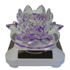 Purple Crystal Lotus with Solar Operated Rotator