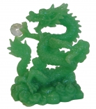 Chinese Green Dragon Holding a Crystal Ball