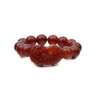 Red Carnelian Stone Bracelet with Pi Yao