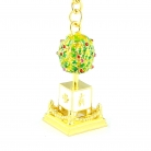 Bejeweled Wealth Granting Tree Amulet Keychain