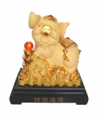 18 Inch Big Golden Pig Statue