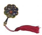 8-sided Mirror Fan w/ Red Tassel for Good Health and Longevity