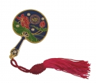 Lotus Mirror Fan w/ Red Tassel for Prosperity and Success