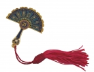Peacock Feather Mirror Fanw/ Red Tassel against Bad Luck