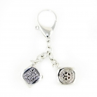Silver Victory in gambling Keychain Amulet