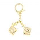 Gold Victory in gambling Keychain Amulet