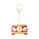 Prosperity Chest Featuring Maneki Neko Amulet Keychain