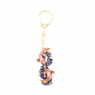 Bejeweled Pair of Carps Amulet Keychain