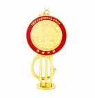 The Cardinal Cross Mirror Keychain Amulet