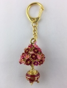Peach Blossom Tree Keychain Amulet