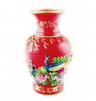 Red Bejewelled Action Vase