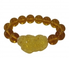 Yellow Beaded Bracelet w/ Pi Yao