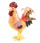 Bejeweled Metal Rooster Statue