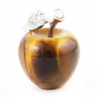 Tiger Eye Apple with Leaf