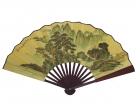 Big Hand Fan w/ Picture of Mountains