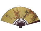 Big Hand Fan w/ Picture of Plum and Birds