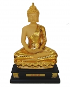 17 Inch Big Gold Sitting Thai Buddha Statue