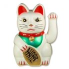 White Lucky Cat Statue