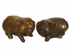 Pair of Big Copper Pig Statue