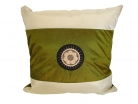Green Silk Throw Pillow Cover w/ Embroidery