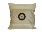 Light Beige Silk Throw Pillow Cover w/ Embroidery
