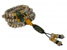 108 Bead Mala Natural Bodhi Seeds Necklace with 3-Eye Dzi Bead