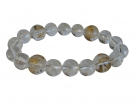 Clear Quartz Gemstone Bracelet w/ Mantra