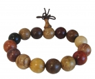 16mm Big 7-Natural Wood Bracelet