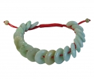 Jade Coin Bracelet w/ Adjustable Red String