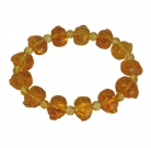 Yellow Crystal Pig Bracelet