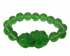 Green Liuli Bracelet with Big Pi Yao