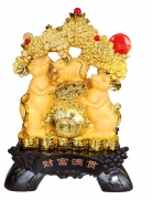 Big Chinese Zodiac Rat Statue with Bejeweled Money Tree and Money Bag