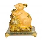 Chinese Zodiac Rat Statue with Money Bag