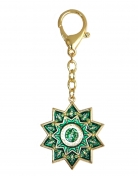 Green Tara Protection Wheel Keychain